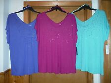 Sleeveless Blouses APT.9 size 2X,1X some color 90% rayon 10% polyester