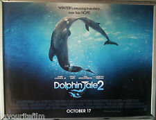 Cinema Poster: DOLPHIN TALE 2 2014 (Advan. Quad) Morgan Freeman Harry Connick Jr