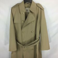 MISTY HARBOR Beige / Khaki / Tan Classic Mariner Trench Coat Womens size 40R