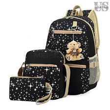 Women Backpack Girl School Satchel Shoulder Bag Rucksack Canvas Travel Bags xuef