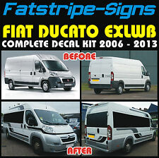 FIAT DUCATO L4 EXLWB MOTORHOME GRAPHICS STICKERS DECALS STRIPES CAMPER VAN