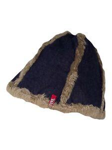 miss sixty cappello berretto zuccotto donna blu denim jeans taglia 2 s small