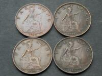 Four 1934 George V Farthings Vintage Retro Britain UK High Grade C083
