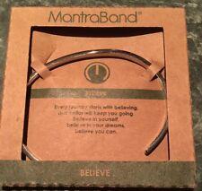Mantraband BELIEVE NIB Stainless steel bracelet Adjustable