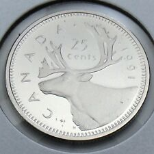 1991 Proof Canada 25 Twenty Five Cents Quarter Canadian Uncirculated Coin G347