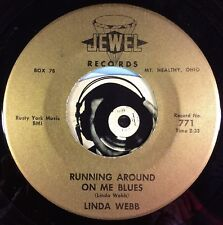 Linda Webb Country 45 Running Around On Me Blues A Lonely Soul