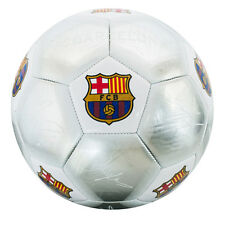 FC BARCELONA FCB SILVER COLOUR SIGNATURE FOOTBALL ADULT SIZE 5 NEW XMAS GIFT