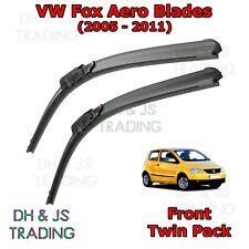 "(05-11) VW Fox Aero Wiper Blades Windscreen 21"" 15"" Hook Type Volkswagen Flat"