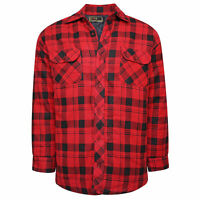 Mens Padded Shirt Lined Lumberjack Work Flannel Jacket Warm Casual Collar Top
