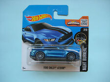 Diecast Hotwheels Night Burnerz Ford Shelby GT350R Blue on Blister