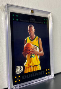 2007-08 Topps 112 Kevin Durant Rc Seattle SuperSonics