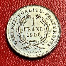 #5489 - Jeton Maison close  1 franc 1906 Cartaux Très belle qualité - FACTURE