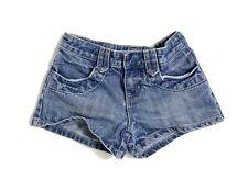 OLD NAVY Girl Blue Denim Short Shorts Girls Size 8 Adjustable Waist