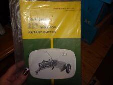 John Deere 227 Gyramor Rotary Cutter Operator's Manual New!