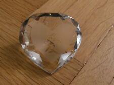 Glasdiamant Dekoration Stein mit Herz und chinesischem Symbol für Liebe