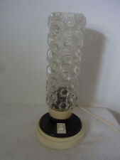Mid Century 60's Single Glass Brass Desk Nightstand Bedside Lamp #<