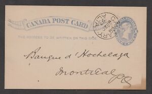 1893 Calgary, Alta c.d.s. on a postal card with a printed Imperial Bank of Canad