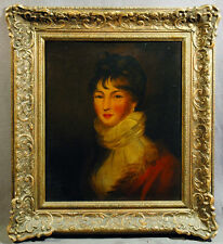 European 19th Century Victorian Oil Painting of Beautiful Woman Portrait