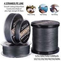 Super Strong PE Spectra Braided Fishing Line 4 Strands 125/300/500/1000M 10-60LB