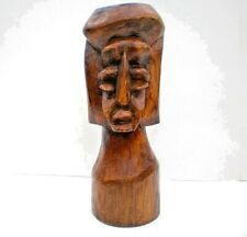 New ListingHand Carved Wood Tribal Totem Head Ethnic African Exotic Rustic Sculpture