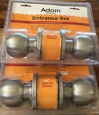 Entrance Sets x 2 Stainless Steel Adorn Series Locking For Exterior Doors