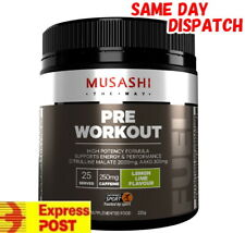 Musashi Pre Workout Lemon Lime 225g