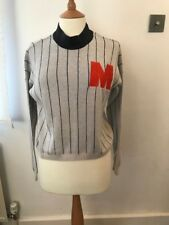 Noisy May grey stripe jumper with M decor size M