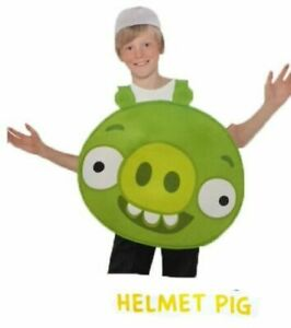 Kids Angry Birds Boys Fancy Dress Party Clothes Tabard With Hat
