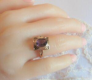 Vintage Real Amethyst 9ct Dress Ring