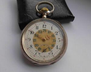 Wunderschöne Herren Taschenuhr IWC Internatonal Watch & Co 800er Silber