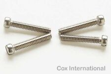 4x  Cox 020 Pee Wee Model Engine Fuel Tank & Backplate Screws .020