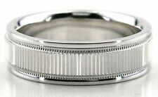 14K Solid White Gold 6mm Mens Womens Wedding Bands Rings Contemporary Band Ring