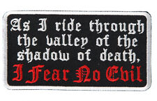 4 PC LOT OF  Fear No Evil  Patch EMROIDERED IRON ON MC 4 INCH BIKER PATCH