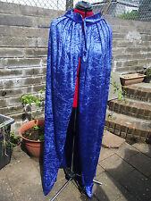 Blue Velluto Schiacciato Costume mantello con collare Costume Principe Principessa