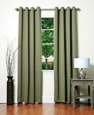 TOP PREMIUM HOTEL QUALITY 100% BLOCKOUT BLACKOUT Eyelet Curtain - OLIVE