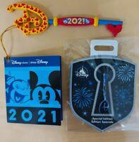 Bundle Disney Store 2021 Opening Ceremony Key  80th Anniversary Fantasia Key Pin