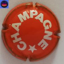 Capsule de Champagne Générique Fond Orange Inscription Blanche !!!!!