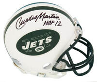 Curtis Martin Signed New York Jets Riddell Mini Helmet w/HOF'12 - SCHWARTZ COA