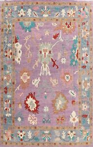 Floral Oushak Turkish Oriental Area Rug Hand-knotted Wool Carpet 12x14 ft. Large