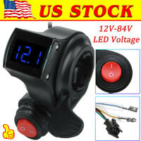 Universal Thumb Throttle Voltage Display For E-Bike Electric Bike Scooter 5Wires