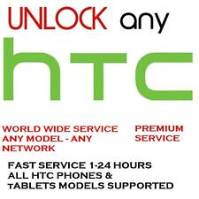 PREMIUM UNLOCK SERVICE/CODE FOR HTC ONE X S V M7 M8 M9 DESIRE 601 510 320 & MORE