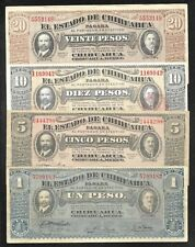 Rev. Mexico - Chihuahua - Set/4 - 1/5/10/20 Pesos - 1914/1915 - FINE & Better