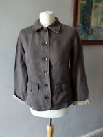 MONSOON WOMENS LADIES STUNNING SMART 100% LINEN SPRING CASUAL JACKET SIZE 10