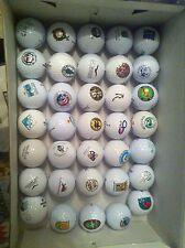 35 Golfbälle mit Clublogo top Sammlerstücke