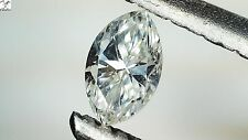 1x Diamant -  Navette/Marquise facettiert H/SI 0,10ct. 2,3x4,0x1,5mm (1080)