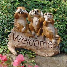 Meerkat Suricate Wildlife Statue Sculpture Garden Welcome Sign Entryway Decor