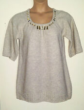 RIVER ISLAND WARM WOOL MIX WAFFLE JERSEY SWEATER MINI DRESS/LONG TUNIC TOP 14-16