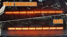 32W White & Amber Yellow LED Emergency Truck Car Strobe Flash Light Front Rear