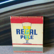 Vintage Matchbook W9 Regal Pale Brewing Co Beer Alcohol Reach For Regal Taste