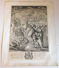 AENEAS IN THE UNDERWORLD - ORIG. 1654 ETCHING by WENCESLAUS HOLLAR - Virgil